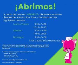 Abrimos. A partir del viernes 15 las tiendas Adarzo, San José Honduras